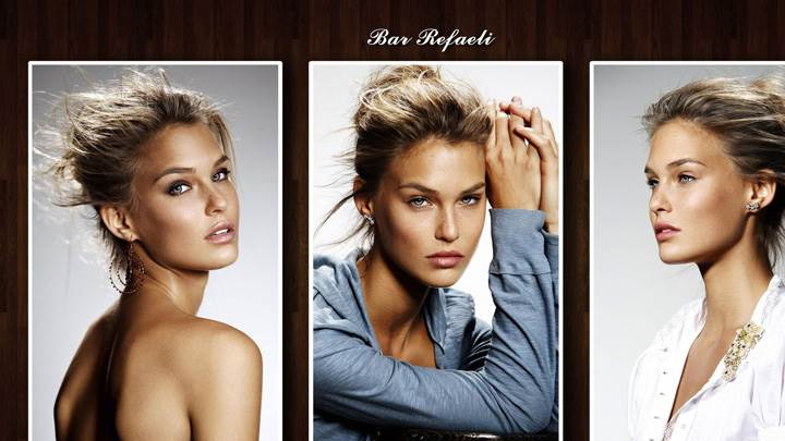 Bar Refaeli In Three Different Pose Photoshoot